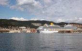 Inauguration of the cruise ship Costa Favolosa — Stock Photo