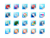 Pulsanti di tecnologia sociale — Foto Stock