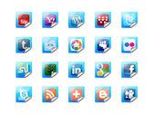 Tlačítka sociálních technologií — Stock fotografie