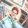 Banknotes from middle east — Stock Photo