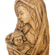 Wooden statue of the Madonna — Stock Photo