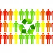 Green ecology makes better people - Stock Photo