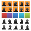 Colorful icons with silhouettes of — Stock Photo