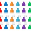 Set of user icons colored — Stock Photo