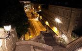 Plaza vista de noche de goldoni — Foto de Stock