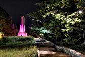 Night view of the fountain of San Giusto — Stock Photo