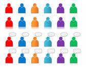 Set van gebruiker pictogrammen gekleurde — Stockfoto