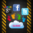 Foto de Stock  : Cloud technology
