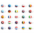 3D National flags icons — Stock Photo
