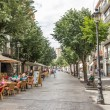 Pedestrian street of Girona — Stock Photo