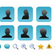Complete set of users icon — Stok fotoğraf