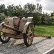 Stock Photo: Transportable historic cannon of World War II