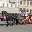 Stock Photo: Old carriage during historical re-enactment in Trieste