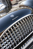 Detail of black classic car — Stock Photo