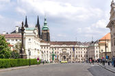 View of the building of the President of the Republic in Prague — Stock Photo