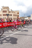 Cyclists competing in the Giro D'Italia 2014 — Stock Photo