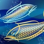Neonfish — Stock Vector