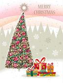 Christmas_tree_11 — Stockvektor