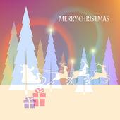 Christmas_santa_light — Stockvektor