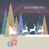 Christmas_santa_dark — Stockvektor