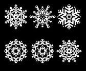 Snowflakes_bw — Stock Vector
