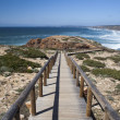 Stock Photo: Promontory adjacent to BordeirBeach, Portugal