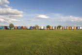 Beach Huts at Brightlingsea, Essex, England — Stock Photo
