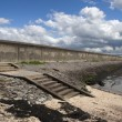 Sea wall on Canvey Island — Stockfoto