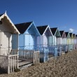Beach Huts, West Mersea, Essex, England — Stock Photo