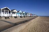 пляж хижины, саутвёлд, саффолк, англия — Стоковое фото
