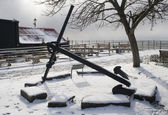 Anchor at Old Leigh, Leigh-on-Sea, near Southend, Essex, Englan — Stock Photo