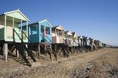 Plážové chatky, thorpe bay — Stock fotografie