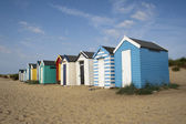 Beach Huts, Southwold, Suffolk, England — Stock Photo