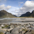 Flakstad Beach on Lofoten Islands, Norway, Scandinavia — Stok Fotoğraf #31491135