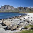 Utakleiv Beach on Lofoten Islands, Norway, Scandinavia — Stok Fotoğraf #31851191