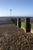 Breakwater at Leigh-on-Sea, Essex, England — Stock Photo