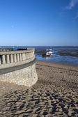 Promenade wall at Jubilee Beach, Southend-on-Sea, Essex, England — Foto Stock