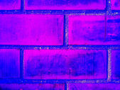 Brick wall dark blue — Stock Photo