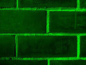 Brick wall dark green — Stock Photo