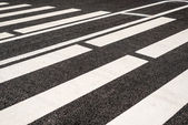Road markings close-up — Stock Photo