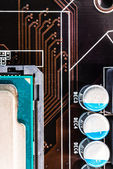Computer capacitors — Stock Photo