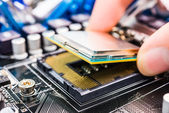 Installation computer chip — Stock Photo