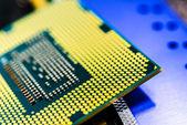 Computer main parts close-up — Stock Photo
