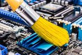 Počítač čištění — Stock fotografie