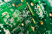 Closeup of circuit board — Stock Photo