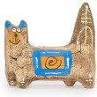 Stock Photo: Clay figurine cat