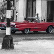 Red Convertable from yesteryear... - Stock Photo