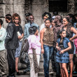 Waiting in line... - Stock Photo