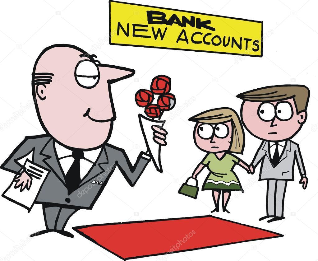 Bancos Dibujos Animados Dibujos Animados Vector Del