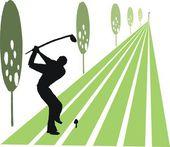 Vektorové ilustrace golfista kyvné klubu na plavební. — Stock vektor
